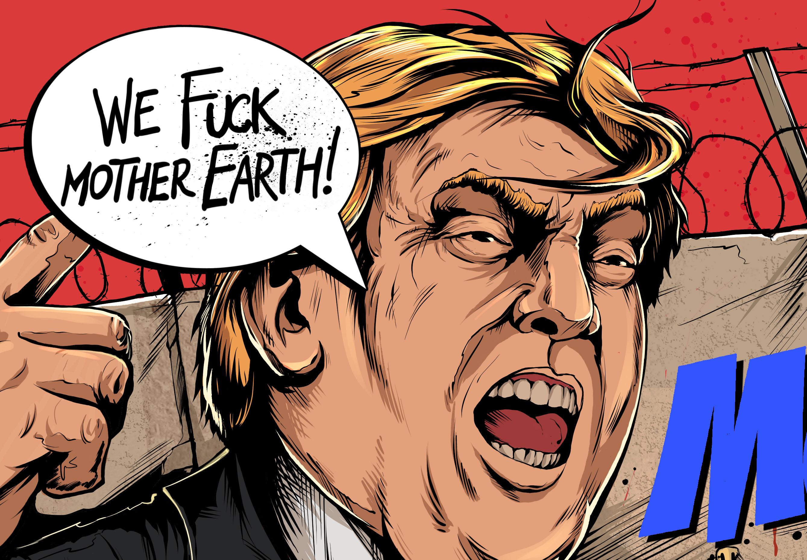 Трамп и его мексиканско-американская стена