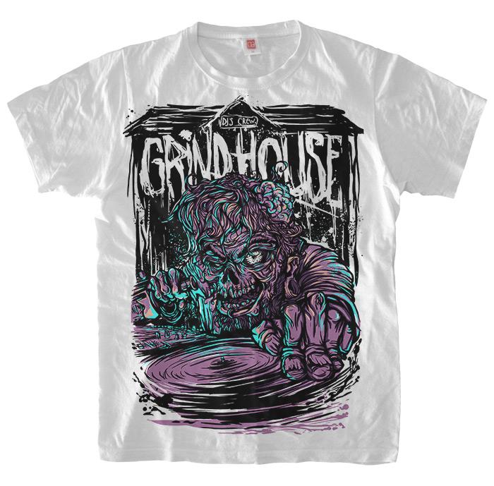 Футболка Диджей-зомби для Grindhouse DJ's